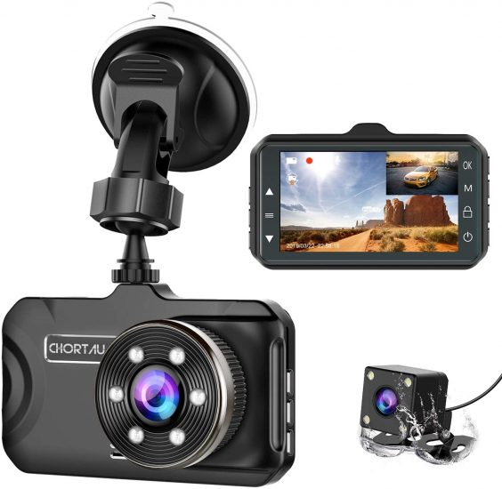 CHORTAU Dual Dash Cameras For Front And Rear