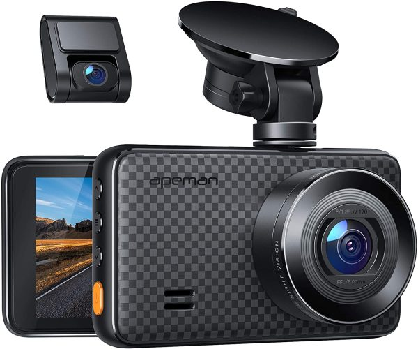 APEMEN 1440p And 1080p Dual Dash Cam Couple With IR Sensor Night Vision, Parking Monitor And Motion Detection