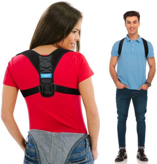Vibo Thoracic Kyphosis and Providing Shoulder - Neck Pain Relief Body Wellness Posture Corrector