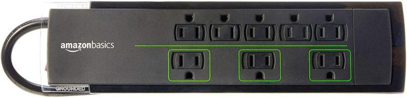 Amazonbasics For 8-Outlet Power Strip With A Surge Protector