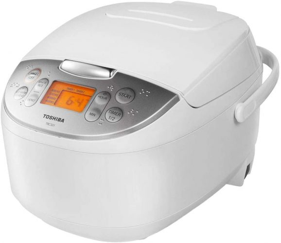 Toshiba TRCS01 Rice Cooker with Fuzzy Logic and One-Touch Cooking