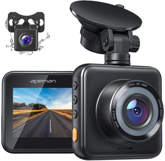 APEMEN Dual Dash Cam Works Great For Front And Rearview As Well As Night Vision