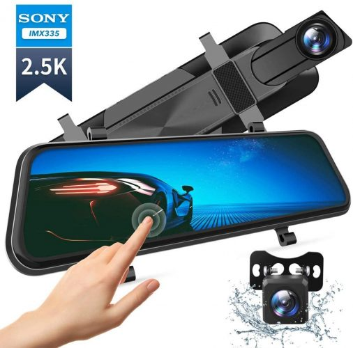 VanTop Mirror Dash Cam For Cars With Full Touch Screen And Waterproof Function