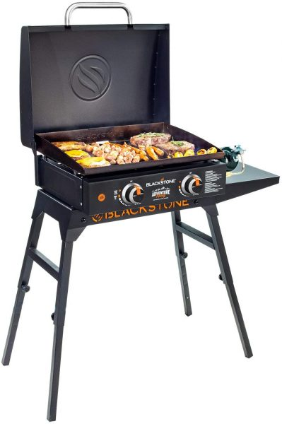 Griddle Blackstone Adventure-Ready with Hood, Legs, Adapter Hose