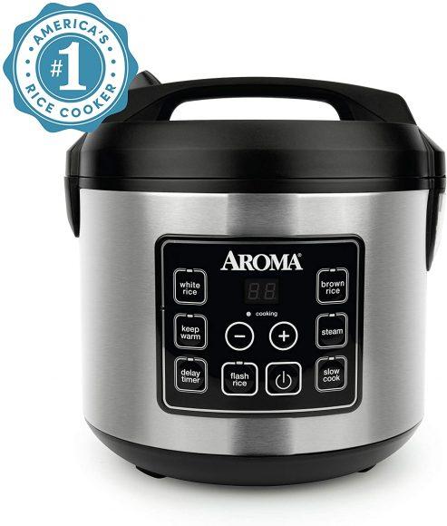 Aroma Housewares Digital Rice Cooker, Slow Cooker, Food Steamer