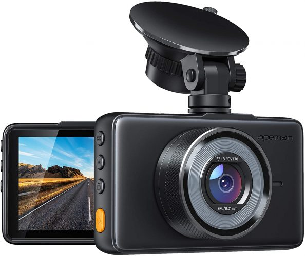APEMAN Car Dash Camera Front and Rear With A Full 1080p