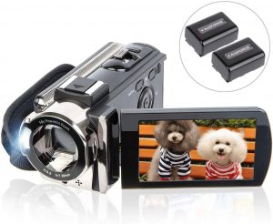 3 Inches With 270 Degrees Of Rotation Screen From Camcorder Vlogging Camera Kit