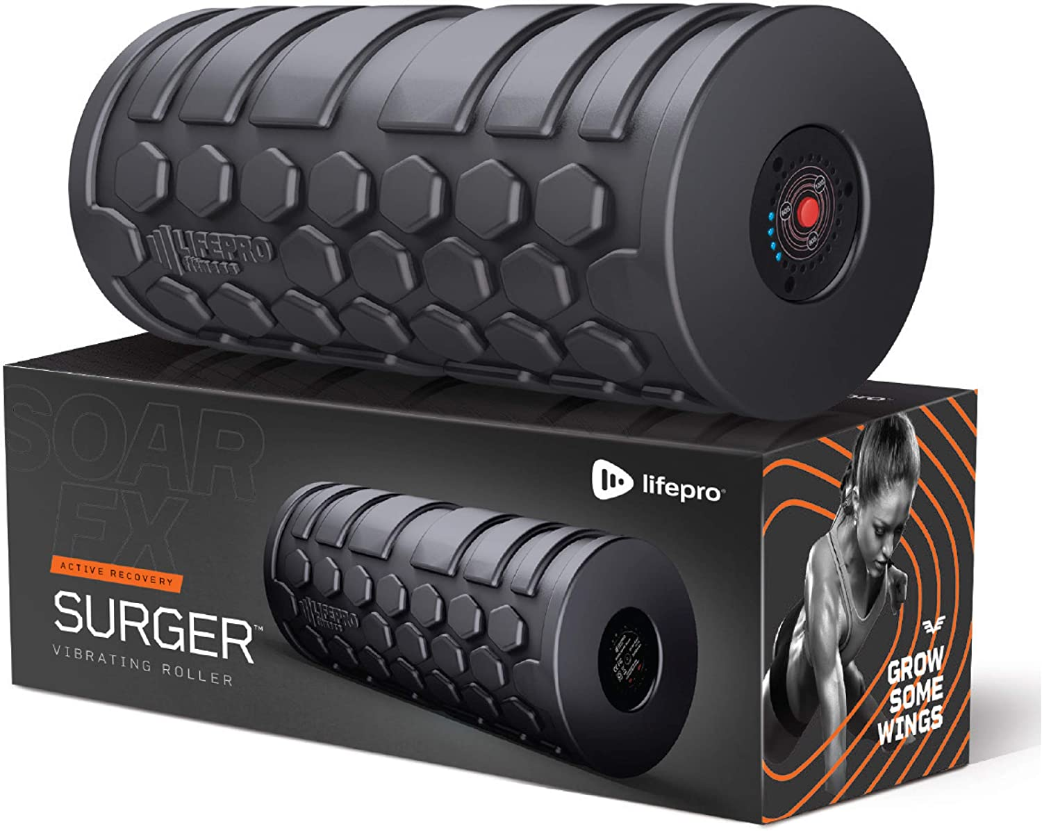 Lifepro Comes With 4-Speed Vibration For Foam Roller Back Stretches