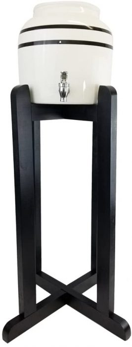 Black Water Dispenser Stand Wood