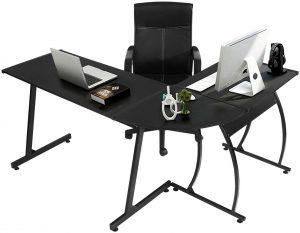 GreenForest L-Shaped Corner PC Desk
