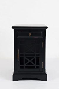 Jofran Craftsman Antique Black USB Charging Station Table