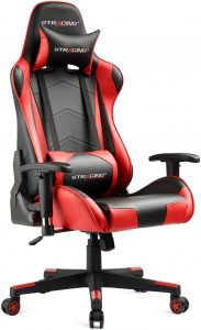 GTRACING Backrest Plus Seat Height Adjustable Reclining Gaming Chair