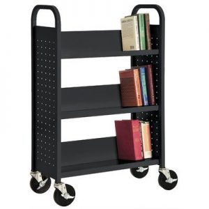 200 Lbs Rolling Book Cart