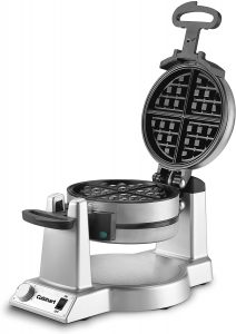 An Iron Cuisinart With 4 Round Mini Waffle Maker