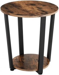 Rivet Meeks Round Side Table with Fabric