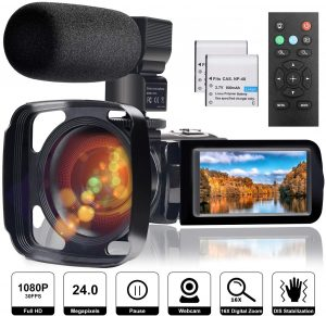 Full HD 1080P Camcorder Cheap Vlogging Camera With Flip Screen