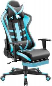 Homall Ergonomic Respawn Reclining Gaming Chair With A High Back, Leather Bucket Seat To Support The Foot, Head And Lumbar