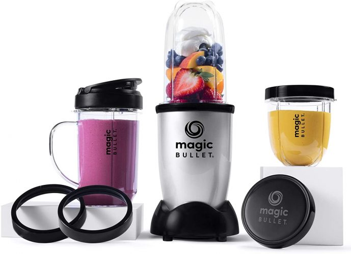 Magic Bullet Smoothie Blender, Small, Silver, 11 Piece Set