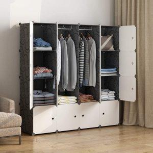 MAGINELS Creative Closet Storage, Wardrobe Organizers with Many Shelves
