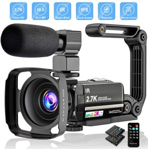 2.7K Camcorder For Vlogging Camera With Mic