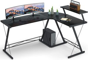 Coleshome's L-Shaped Desk with Round Corner