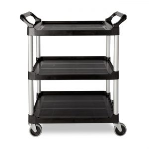 Rubbermaid Commercial Products (FG330400CLR) Durable Service Cart