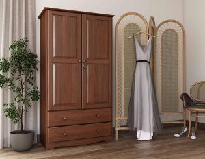 Palace Imports Armoires & Wardrobes - Wood & Solid with Mocha Color