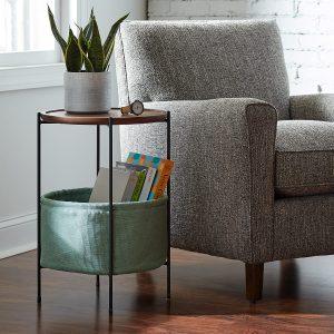 KingSo Living Table Living Room with Basket Storage