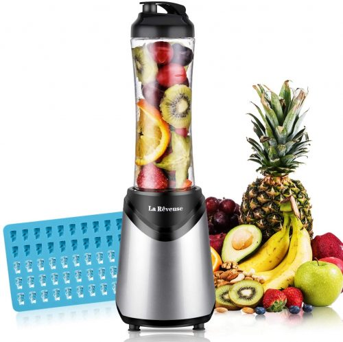 La Reveuse Smoothies Blender 300Wwith 18 oz BPA Free Portable Travel Bottle