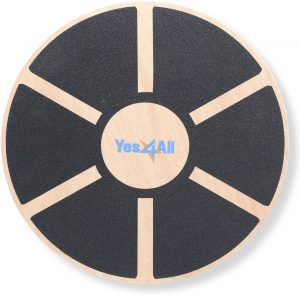 Yes4All Wooden Wobble Balance Board Exercises