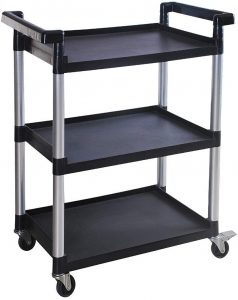 MaxWorks 80774 3-Shelf Utility Plastic Cart