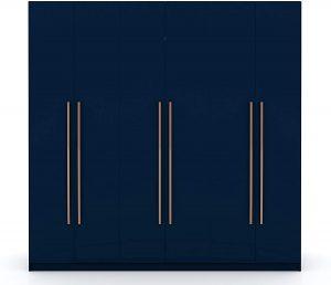 Manhattan Modern Wardrobe Armoire Closet - Midnight Blue Armoires