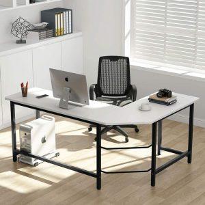 Latest L-Shaped Desk Corner PC Desk from Tribesigns