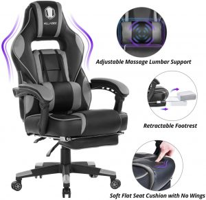 KILLABEE Massage Reclining Gaming Chair