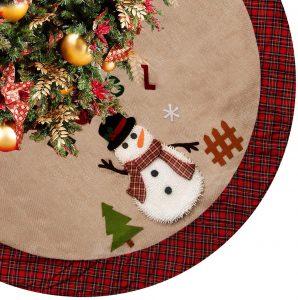 CELIVESGG Pretty Christmas Tree Skirt