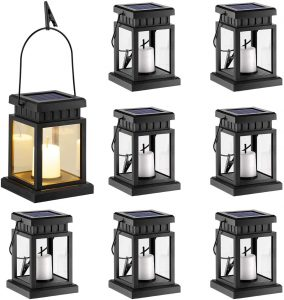 Gigalumi 8 Pack Outdoor Lantern With Solar Power
