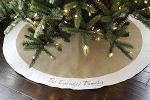 Christmas Tree Skirt by Prettiest Please