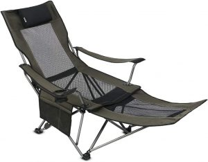 OUTDOOR LIVING SUNTIME Portable Camping Chair with Footrest
