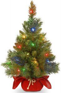 National Tree Company's Colorful Christmas Mini Tree