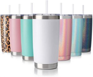 Chicago 20oz tumbler with Lid and Straw