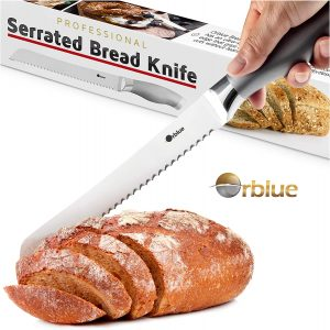 Stainless Steel Bread Knife From Orblue