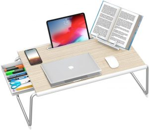 Foldable Bed Desk With Storage Drawer
