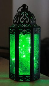 Color Glass Outdoor Lantern With Moroccan Style From Vela