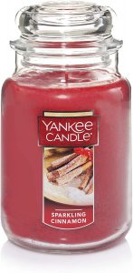 Yankee Candle With Sparkling Cinnamon
