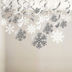 Decorate Your Christmas Holiday With Snowflake Swirls