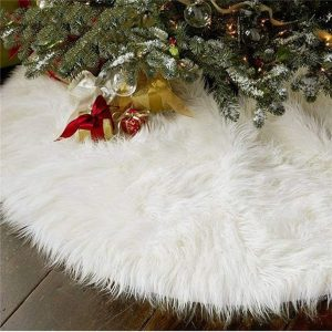 AISENO Luxurious Christmas Tree Skirt