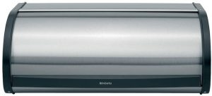 A Roll Top Stainless Steel Bread Box From Brabantia