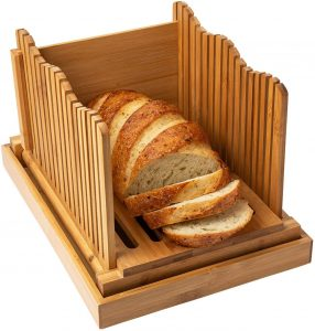 Bamboo Bread Loaf Slicer With Crumble Holder