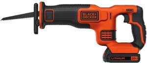 A Battery And Charger Reciprocating Saw From Black + Decker
