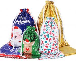 Christmas Drawstring Gift Backpack From Amosfun